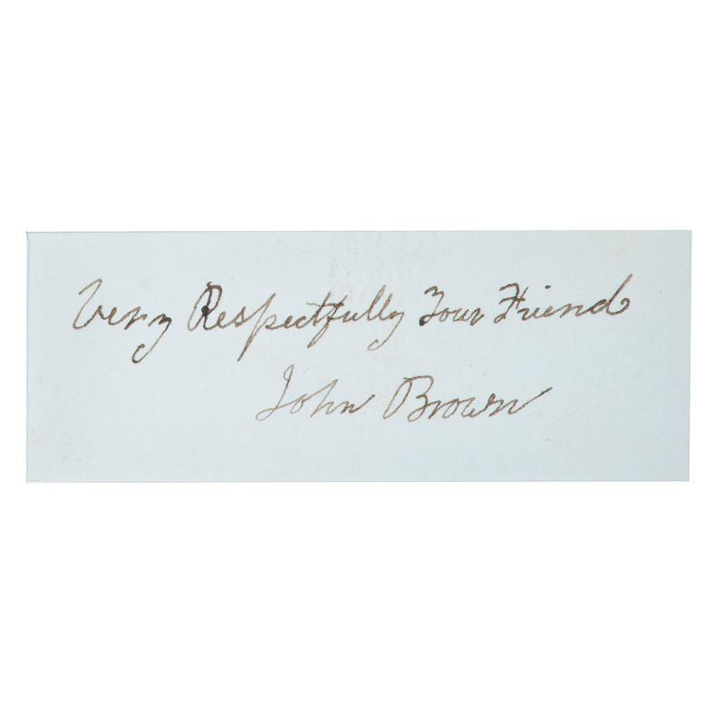 John Brown Autographed Inscription