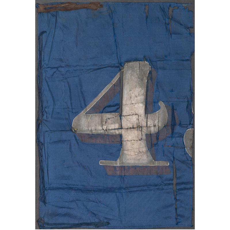 OLD RECORD Fragment of Civil War 45th Massachusetts Regimental Flag