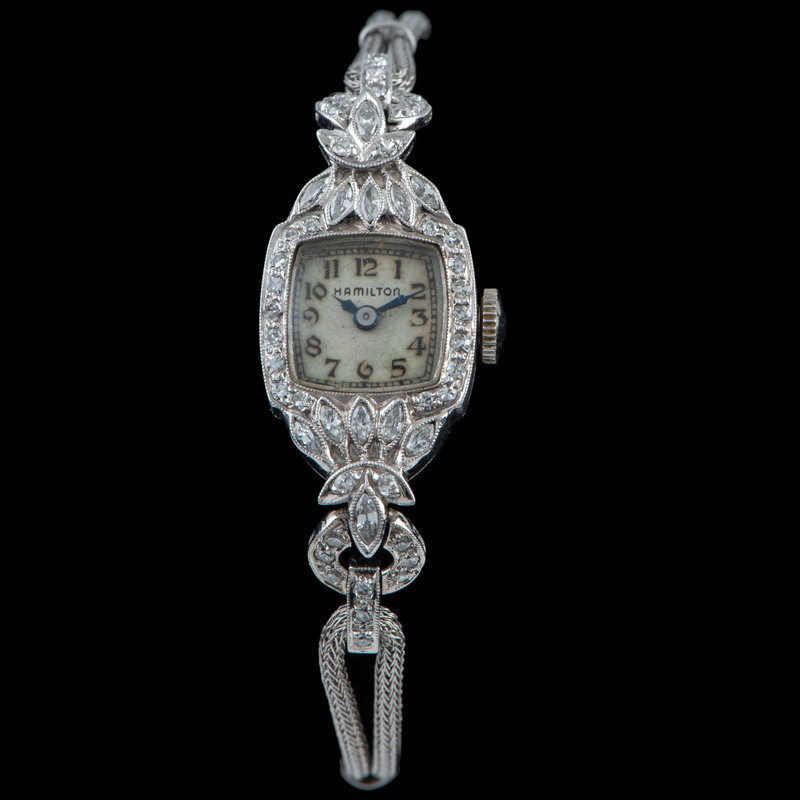 Hamilton Platinum Diamond Wristwatch