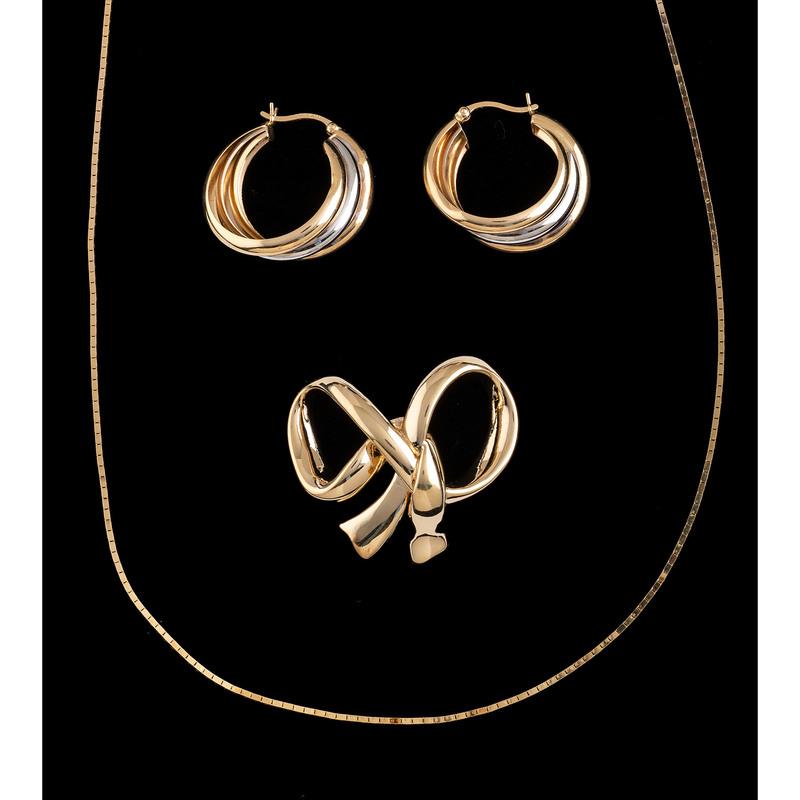 14k Gold Jewelry, Lot of Three