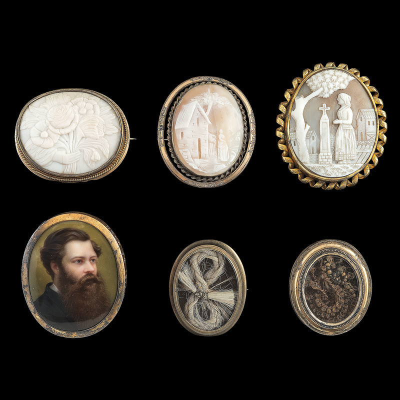 Mourning Jewelry, Lot of Fourteen