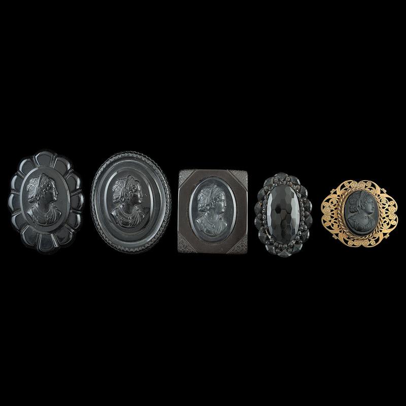 Mourning Jewelry, Lot of Thirteen