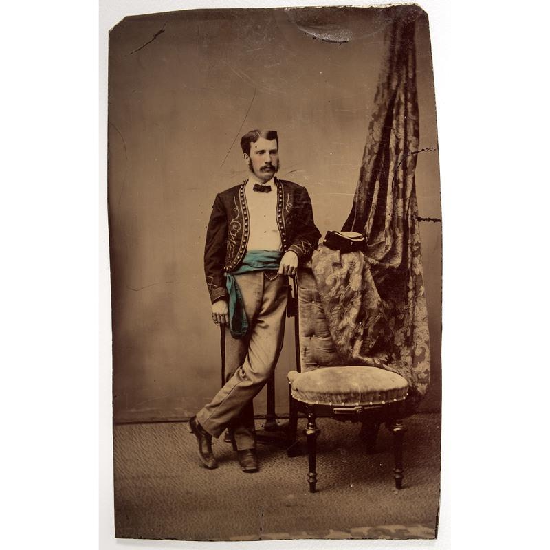 Civil War Tintype of a Zouave