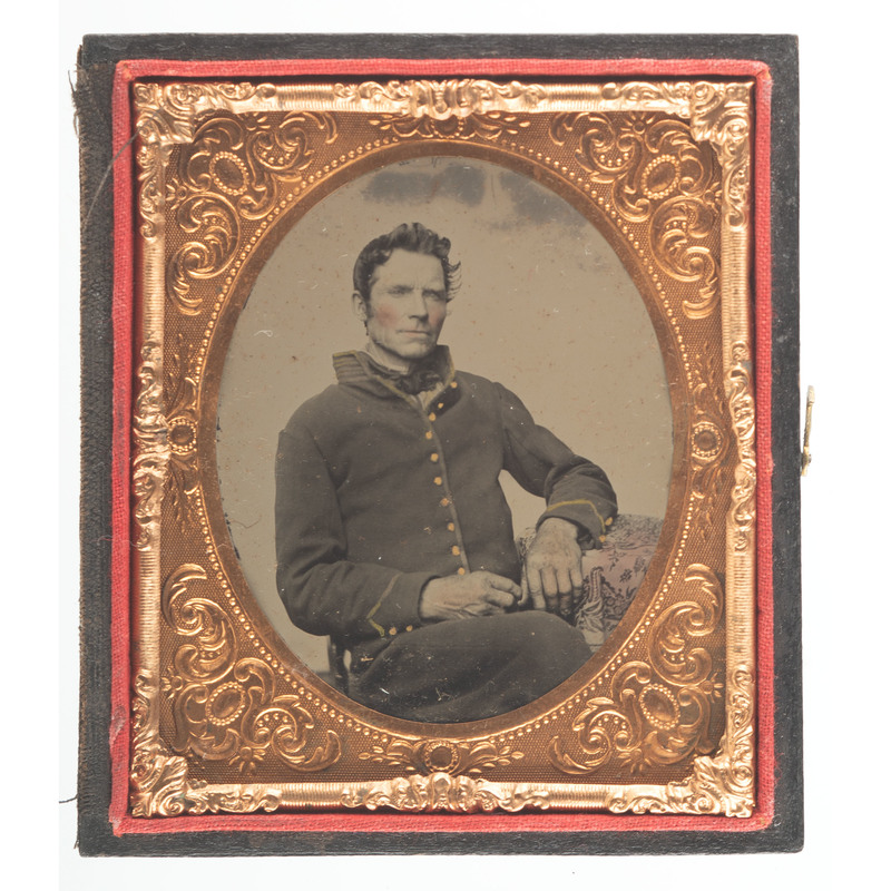 Civil War Sixth Plate Tintype of Soldier Tentatively Identified as MOH Recipient Edward R. Hanford