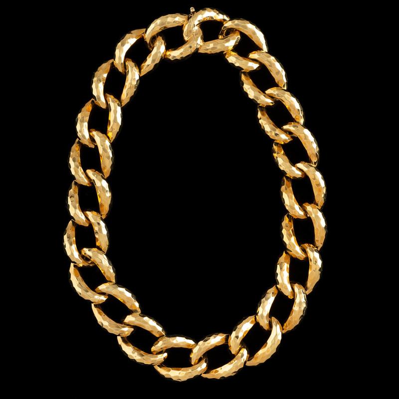 Henry Dunay 18k Gold Link Necklace