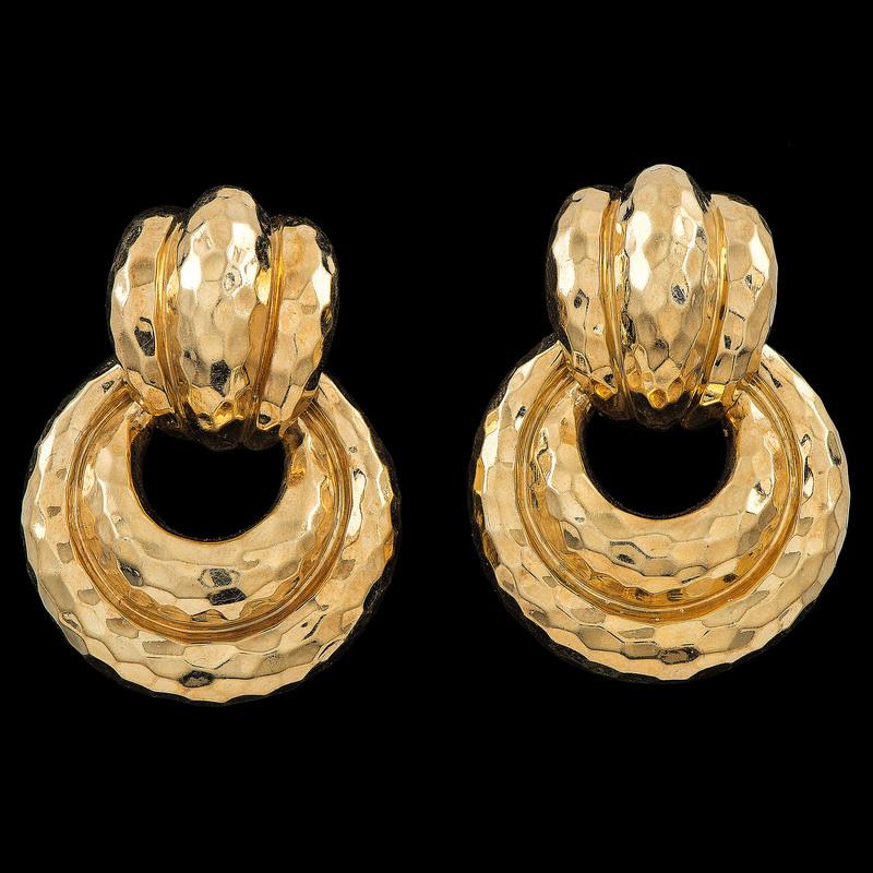 Henry Dunay 18k Gold Earrings