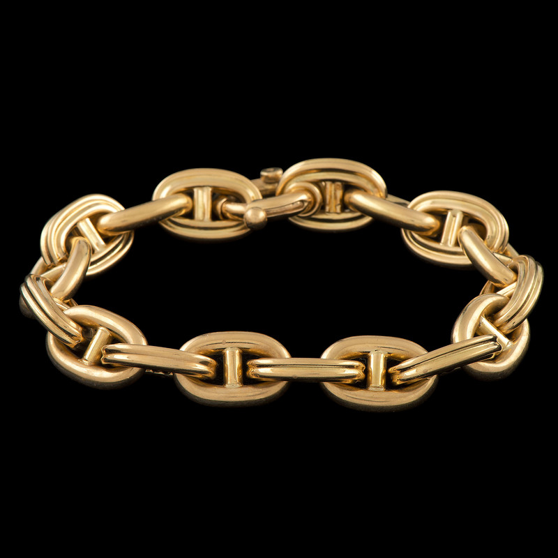 18k Gold Anchor Link Bracelet
