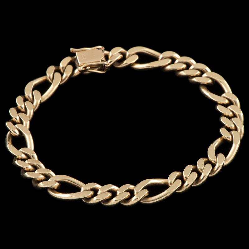 14k Gold Figaro Link Bracelet