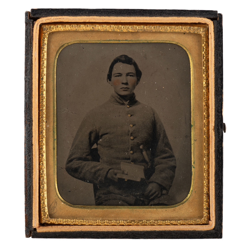 Sixth Plate Tintype of Confederate Soldier from Alabama