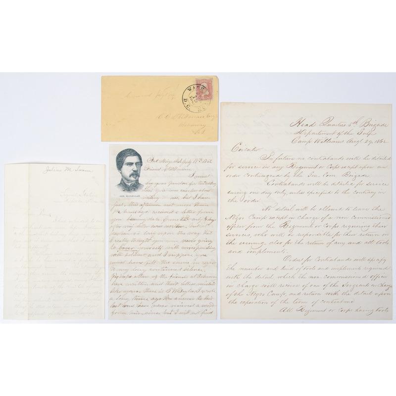 Slavery & Contraband, Trio of Civil War Documents, 1862-1863