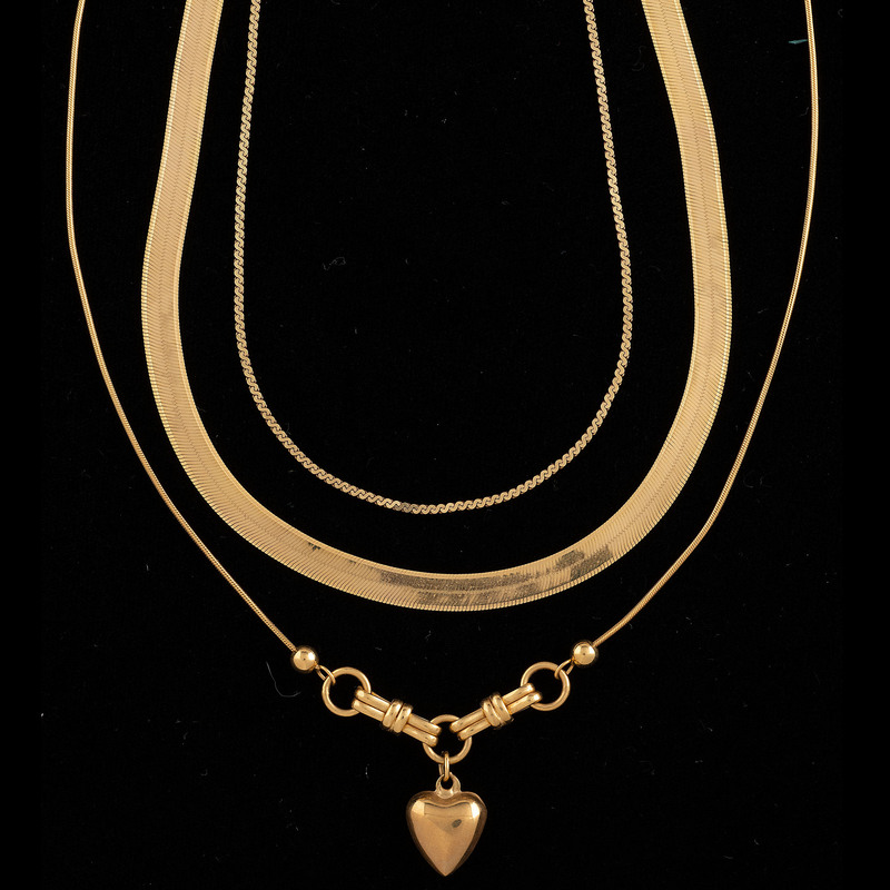 14k Gold Necklaces, Lot of Three