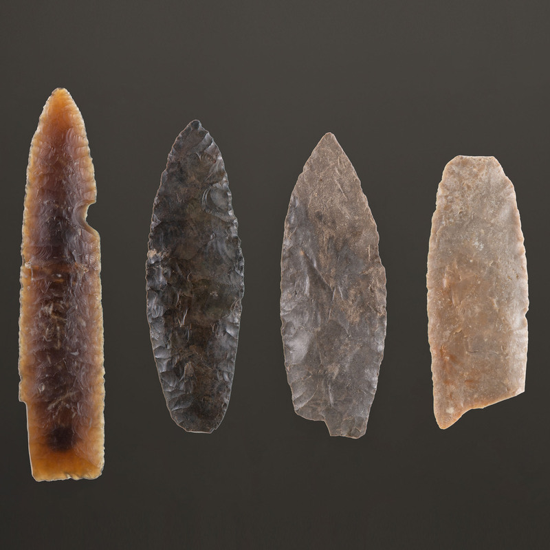 A Group of Paleo Points / Blades, Longest 4-1/4 in.