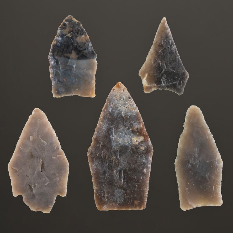 A Group of Pentagonal Points, Longest 2-1/8 in.