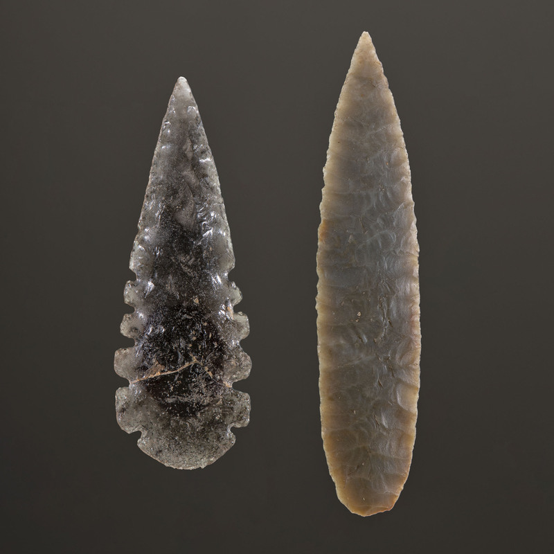 A Pair of Mississippian Points, Longest 2-1/4 in.