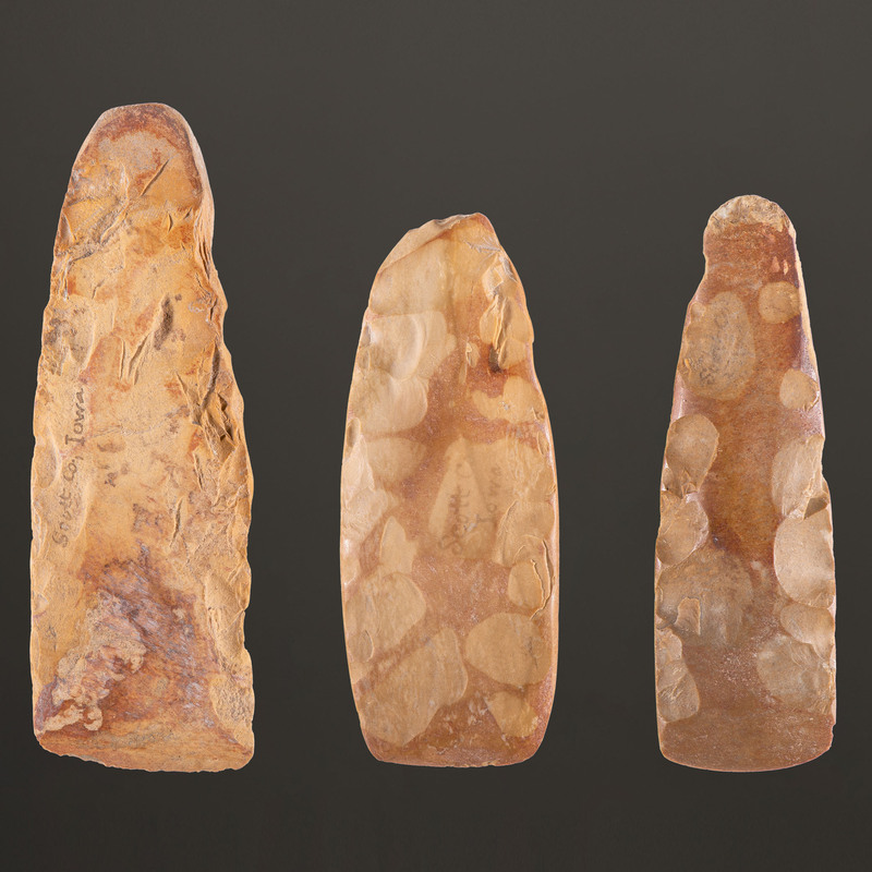 Three Flint Celts, Longest 4-7/8 in.