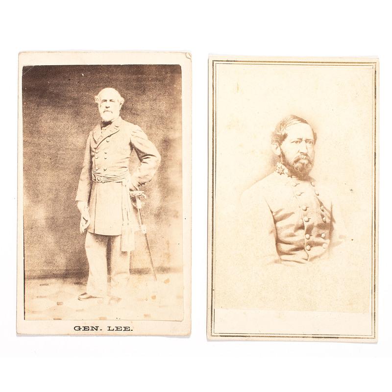 Confederate CDVS, Incl. Generals Robert E. Lee and Arnold Elzey