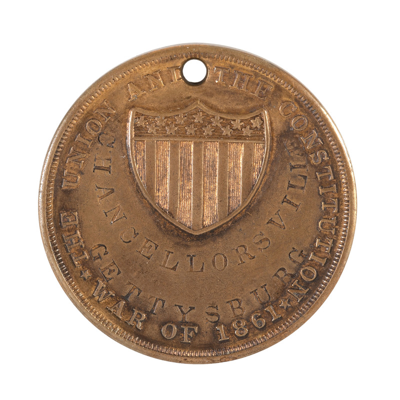 ID Disc of Sergeant Augustine S. Jones, Co. E, 3rd Wisconsin Volunteers, Wounded at Antietam