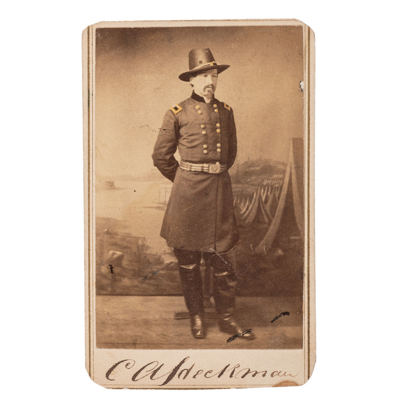 Brigadier General Charles Heckman, Twice Wounded and POW, Inscribed CDV
