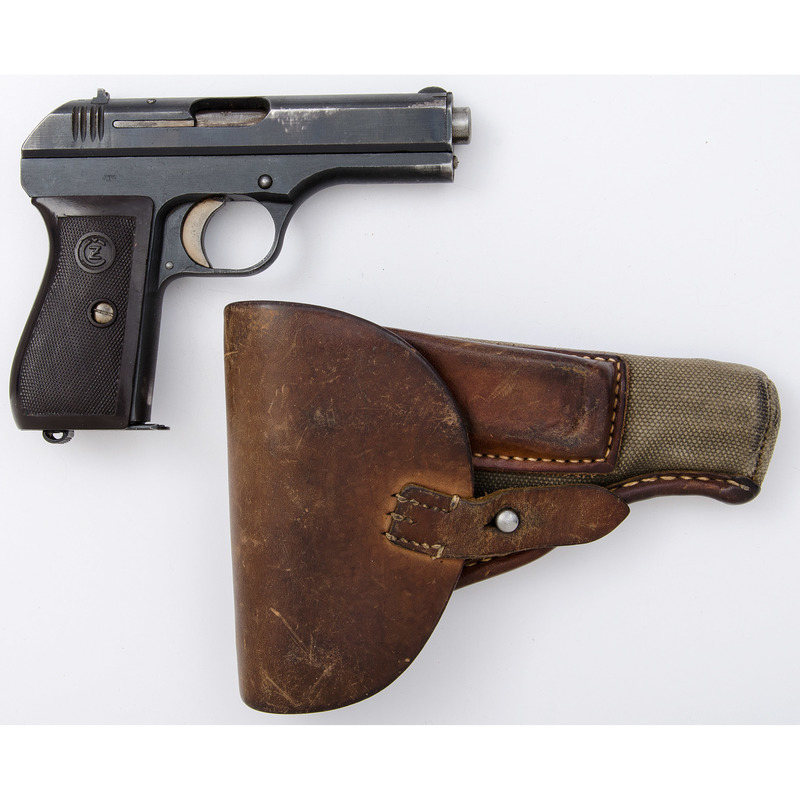 ** German Marked CZ Model 27 Pistol with Canvas Holster