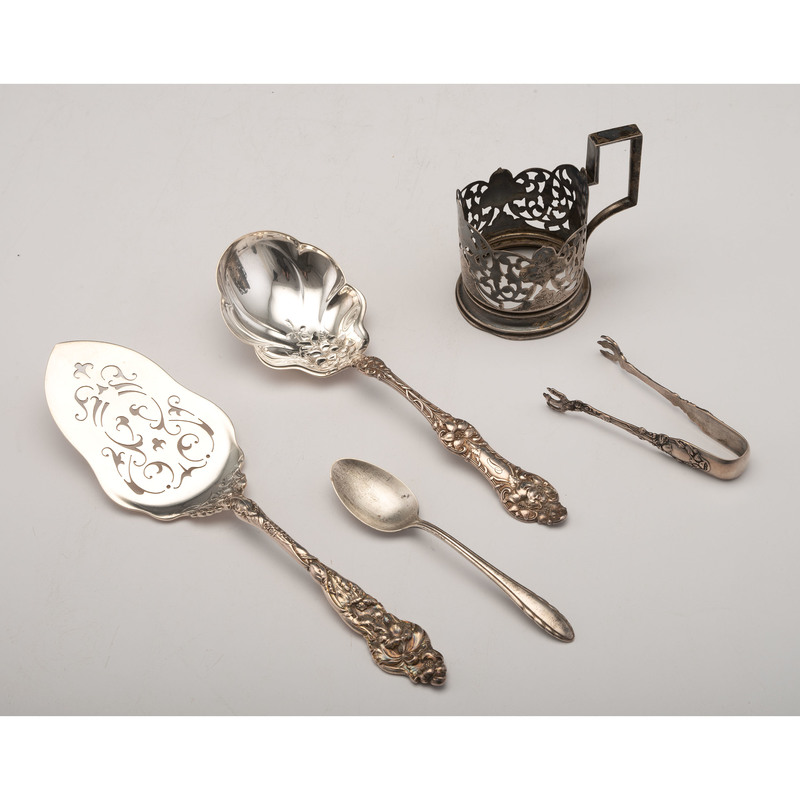 Reed & Barton Pie Server & Alvin Berry Spoon, PLUS