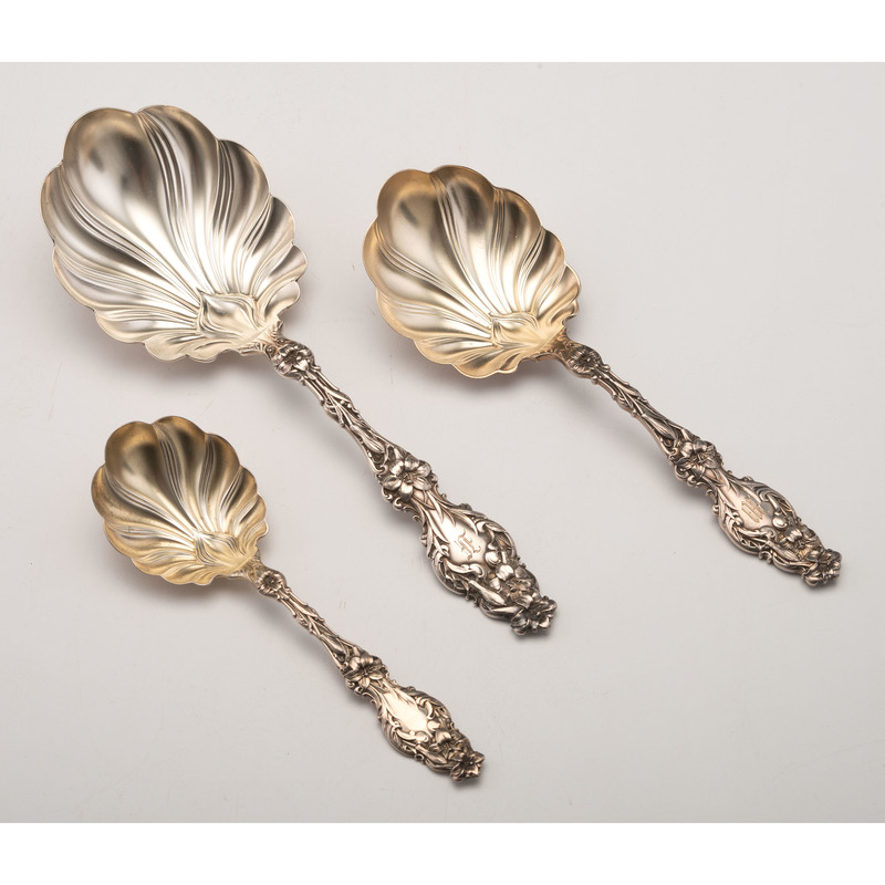 Whiting Lily Sterling Serving Spoons