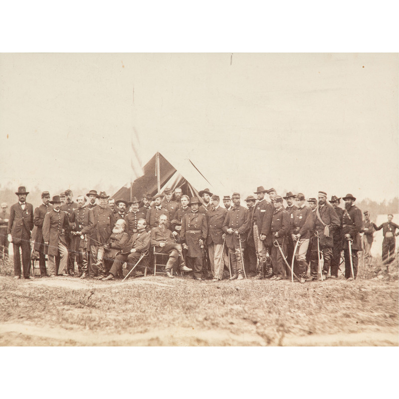 Group Portrait of General Meade and Staff, Cold Harbor, Virginia, June 1864