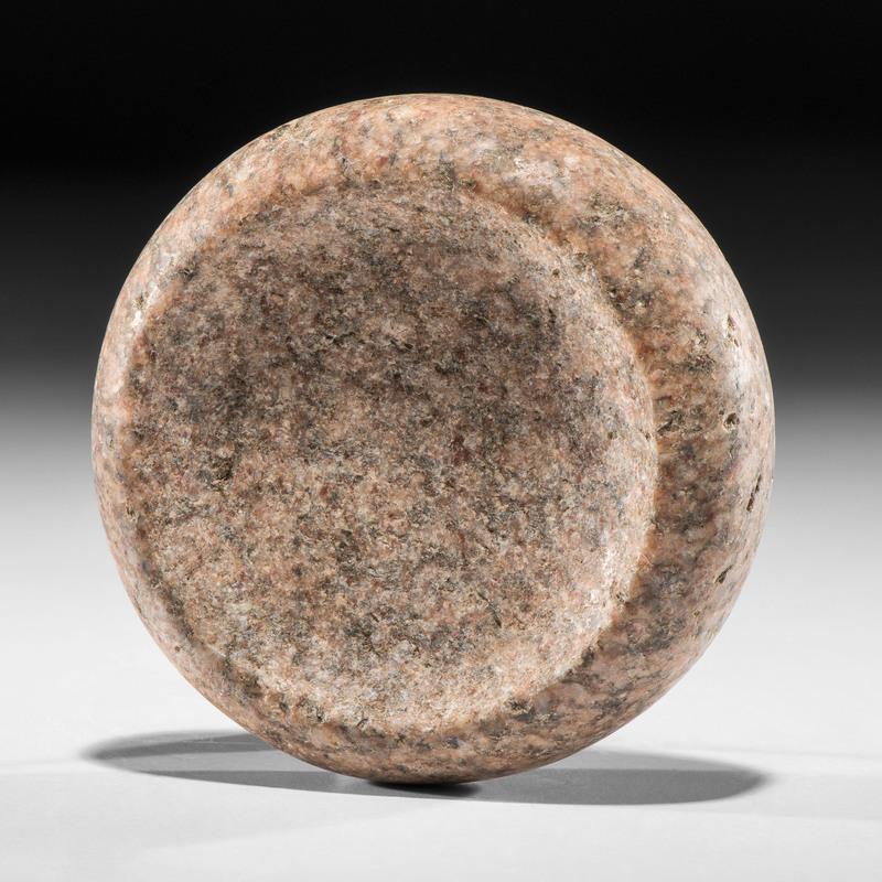 A Granite Discoidal, Diameter 4 in.
