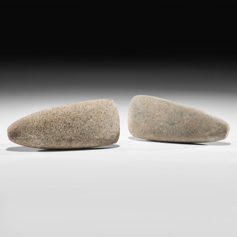 A Pair of Granite Celts, Longest 7-1/4 in.