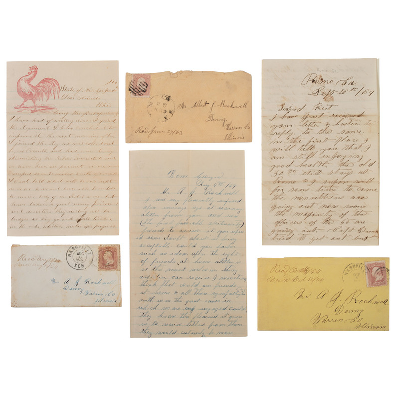Civil War Archive of Soldiers' Letters to Mr. A.J. Rockwell, Illinois