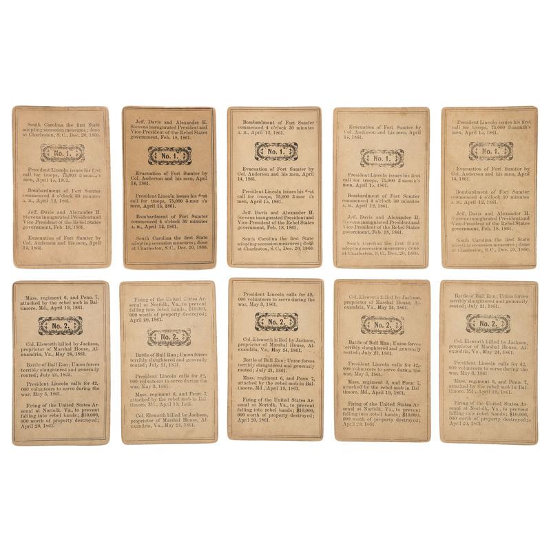 Rare Civil War-Era Card Game