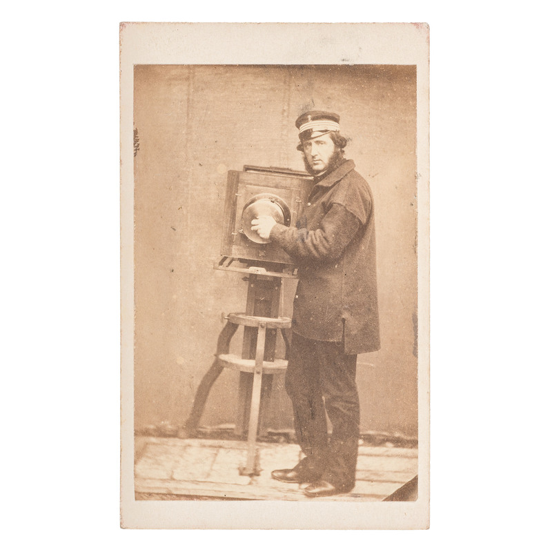 CDV of Man Posed with Camera, Plus
