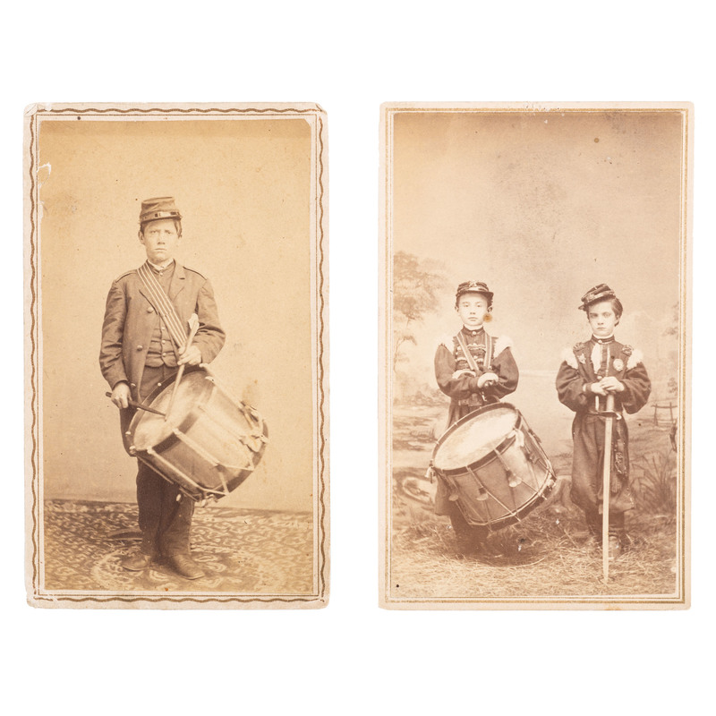 Civil War Drummer Robert Hendershot, 8th Michigan Infantry, CDV, Plus