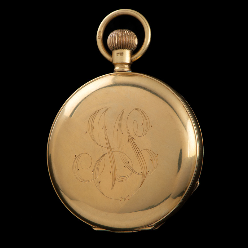 18k Gold Thomas Russell & Sons Pocket Watch and 14k Chain