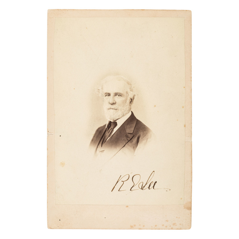 Robert E. Lee, Boldly Signed Cabinet Card Photograph by Henry Pollock