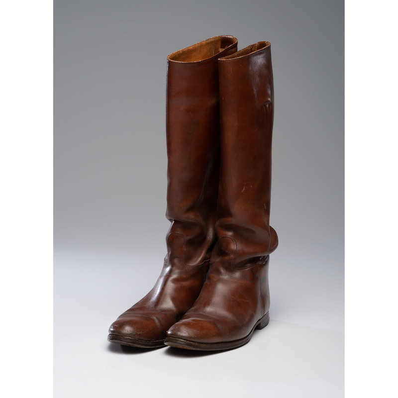 British WWII Officer's Brown Riding Boots
