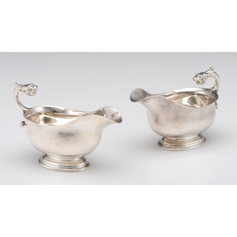 George II Sauce Boats with Lion Handles