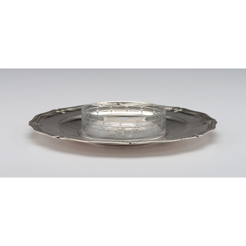 Tiffany & Co. Sterling Dish with Glass Insert