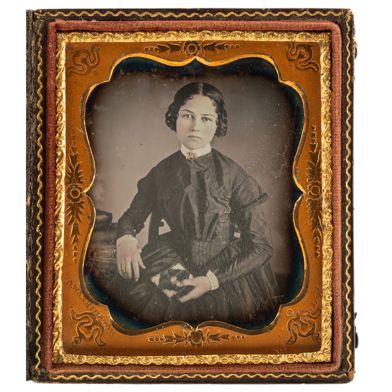 Augustus Washington Sixth Plate Daguerreotype of Young Woman