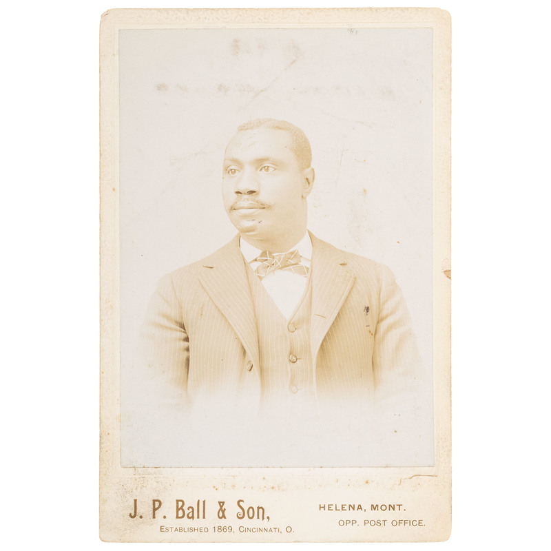 Scarce J.P. Ball Montana Cabinet Card