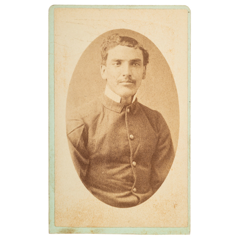 24th Regiment Infantryman Buffalo Soldier CDV, ca 1886