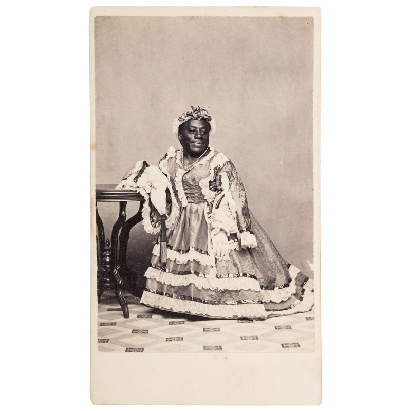 Remarkable CDV of Japanese Tommy in Drag, ca 1866