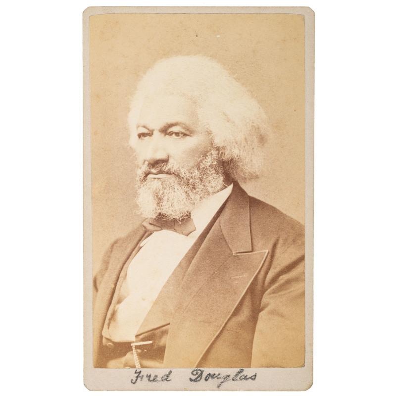 Frederick Douglass CDV by Samuel M. Fassett, 1878