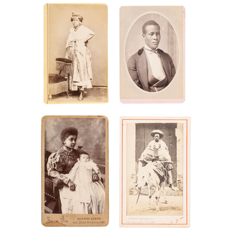 CDVs of Africans in New World Countries, ca 1870-1895