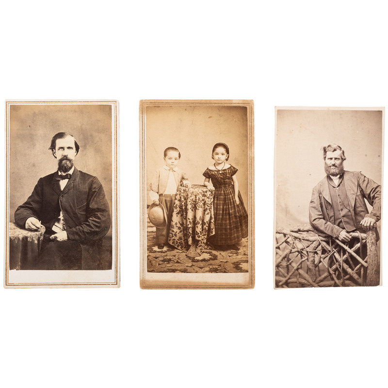 Trio of CDVs by James P. Ball