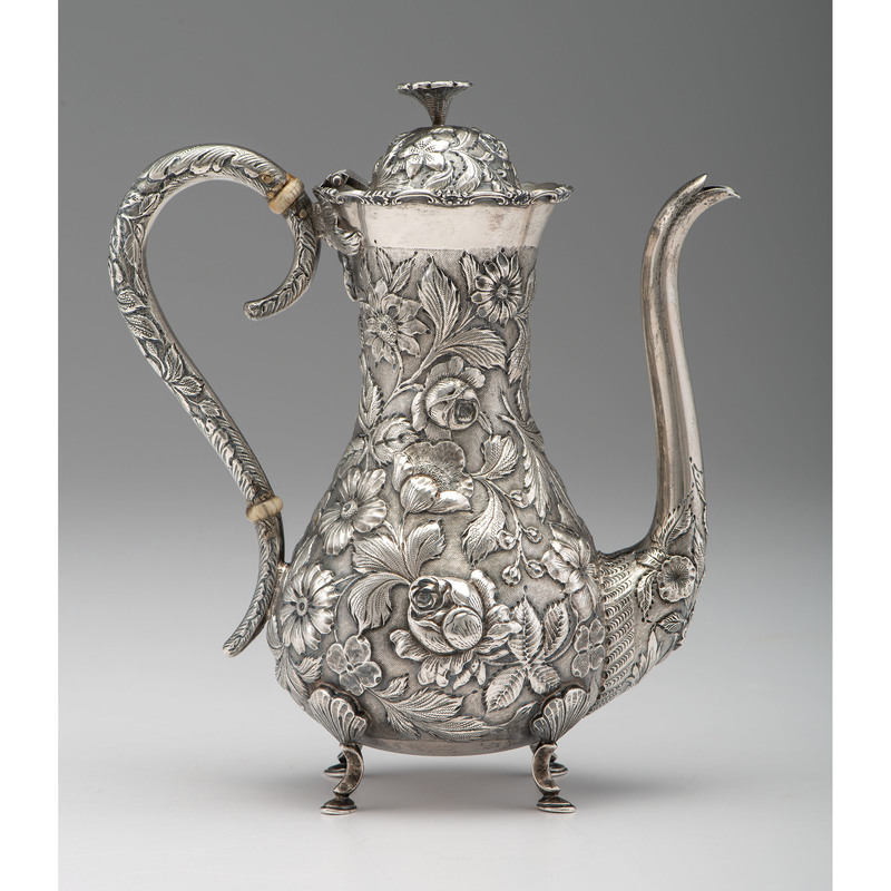 Baltimore Sterling Repoussé Coffee Pot