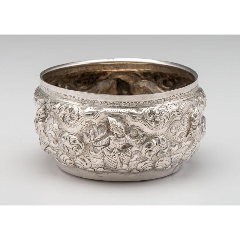 Thai Repoussé Silver Bowl
