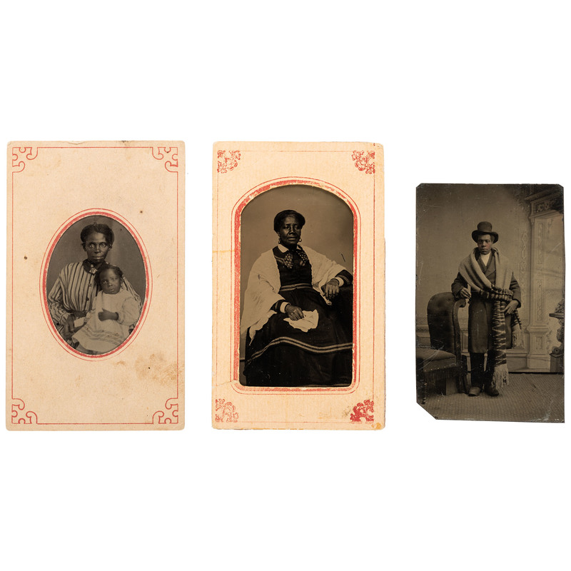 Tintypes of African Americans, ca 1865-1880
