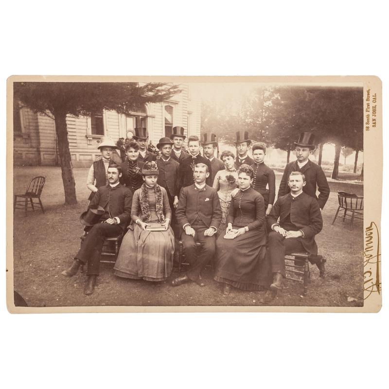Class of '87 University of Pacific, San Jose, Cal. Jan 20, 1887 Boudoir Card