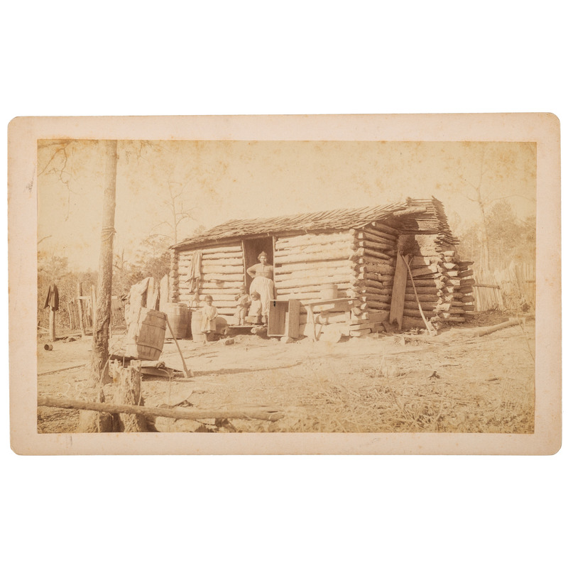 Old Log Cabin, Fort Payne, Alabama Boudoir Card, ca 1890