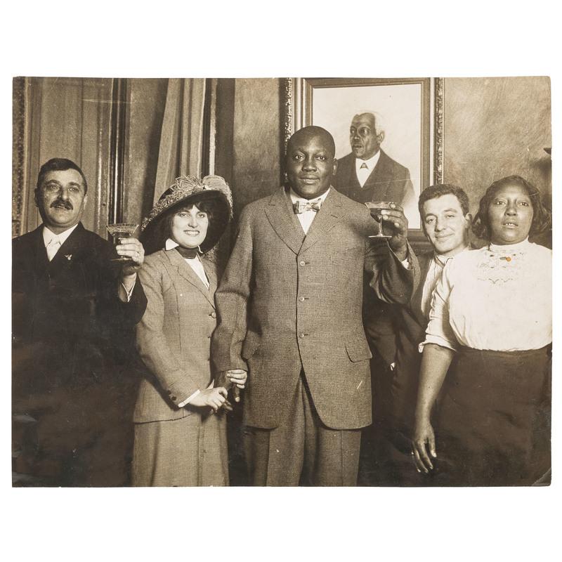 Jack and Lucille Johnson Oversize Wedding Photograph, 1912